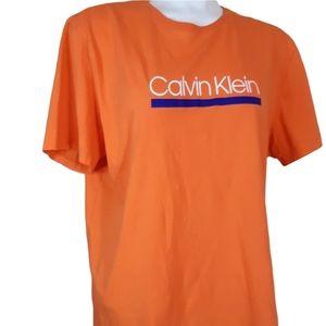 Calvin Klein | orange spell out logo tee